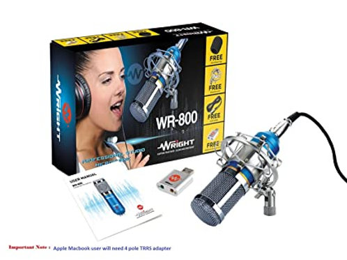 WRIGHT WR800 CONDENSER MIC (BLUE)