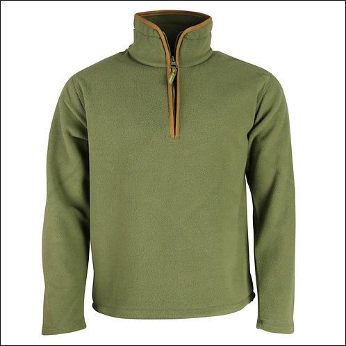 Huntsbury Country Fleece Pullover - Olive Green