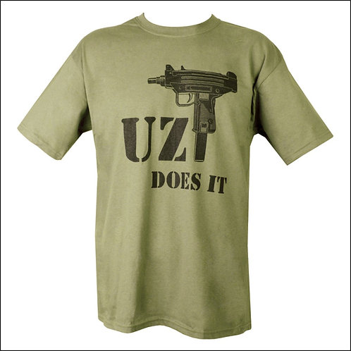 Uzi Does It T-Shirt - Olive Green