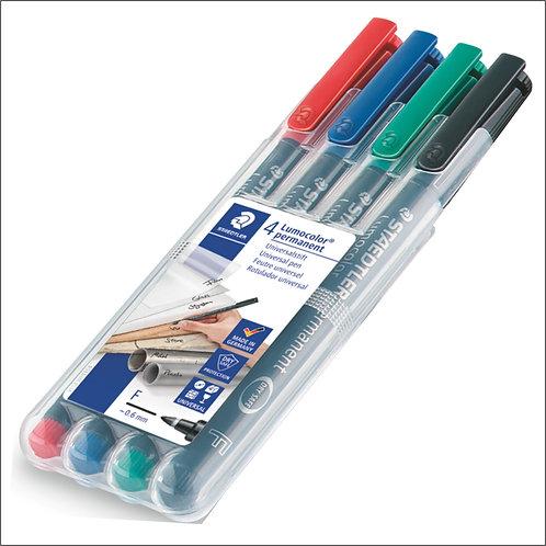 Staedtler Lumocolor Universal Permanent Pen Set - Fine