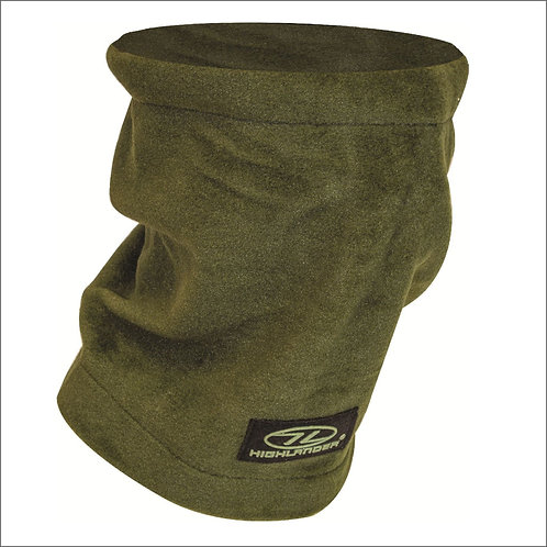 Highlander Polar Fleece Neck Warmer - Olive Green