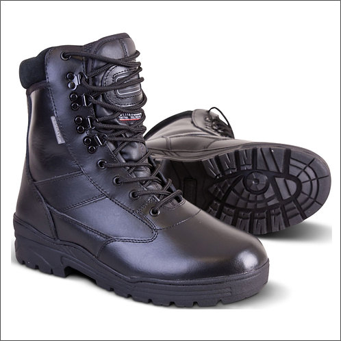 Kombat Patrol Boot - Full Leather - Black