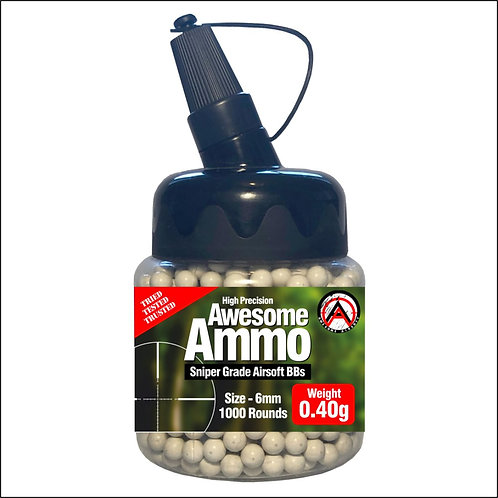 1 x 0.40g Sniper Awesome Airsoft BBs - x1000 High Precision