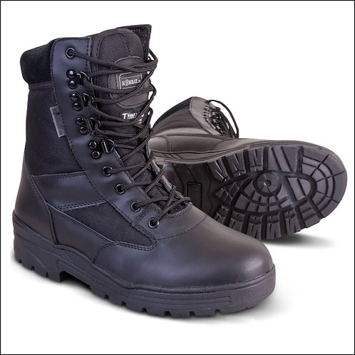 Kombat Patrol Boot - Half Leather Half Cordura - Black