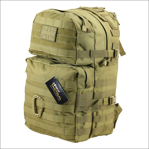 Kombat Tactical Molle Assault Pack - 40 Litres - Coyote