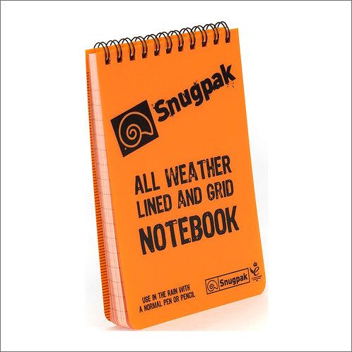 Snugpak Water Resistant Notebook - Orange
