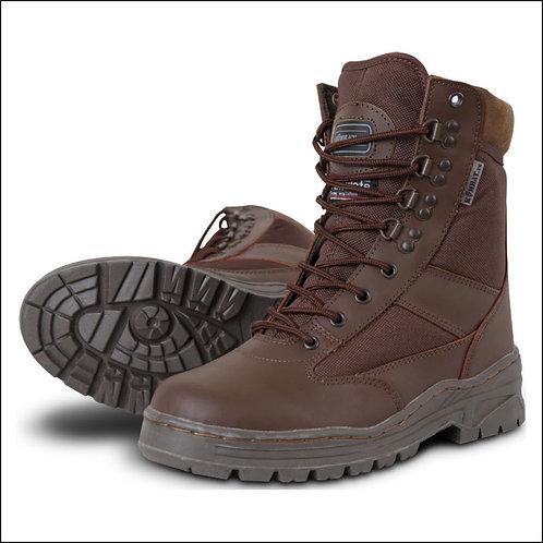 Kombat Patrol Boot - Half Leather Half Cordura - MOD Brown