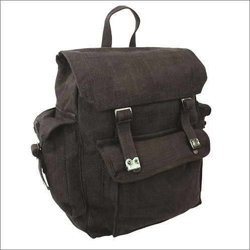 Highlander Large Pocketed Web Backpack - Black
