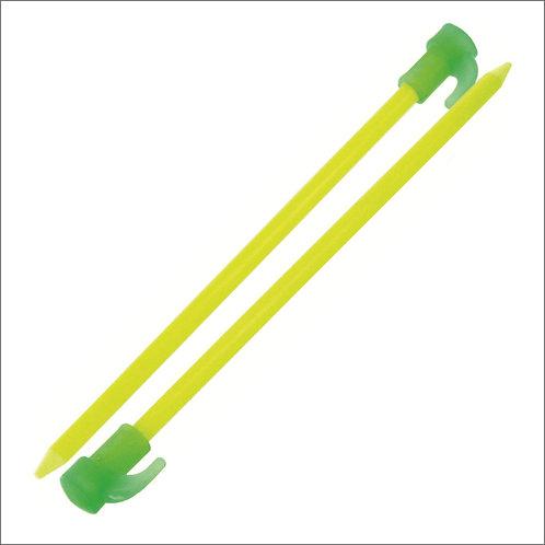 Highlander Fluorescent Tent Pegs - Pack of 6 - Green / Yellow