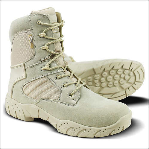 Kombat Tactical Pro Boot - Half Leather Half Nylon - Desert
