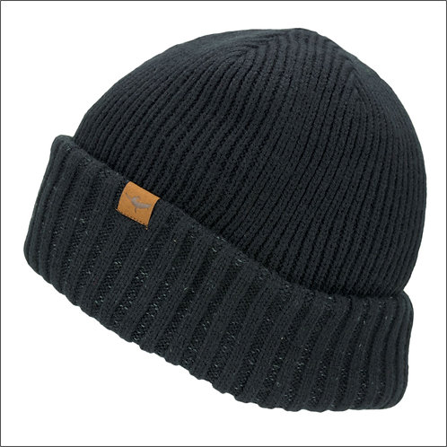 Sealskinz Waterproof Cold Weather Roll Cuff Beanie Hat - Black