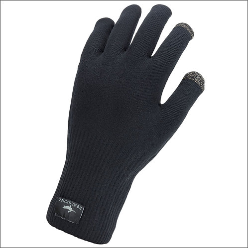 Sealskinz Waterproof All Weather Ultra Grip Knitted Glove - Black