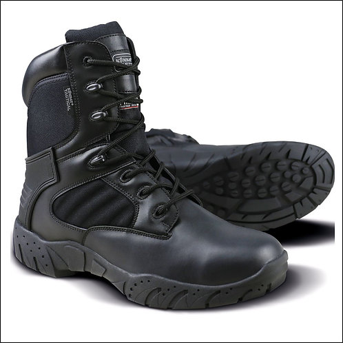 Kombat Tactical Pro Boot - Half Leather Half Nylon - Black