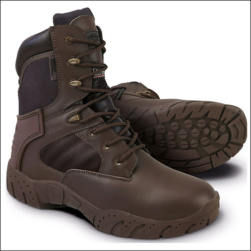 Kombat Tactical Pro Boot - Half Leather Half Nylon - MOD Brown