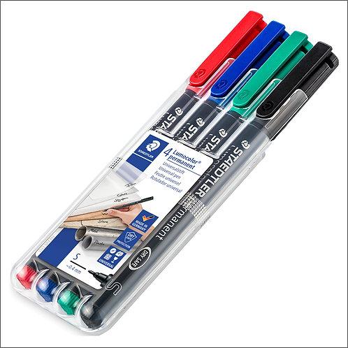 Staedtler Lumocolor Universal Permanent Pen Set - Superfine