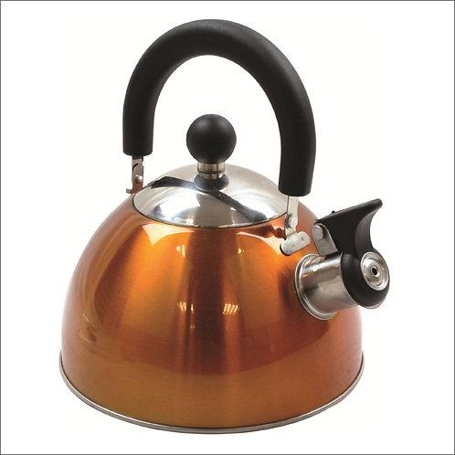 Highlander 2 Litres Deluxe Whistling Kettle - Orange