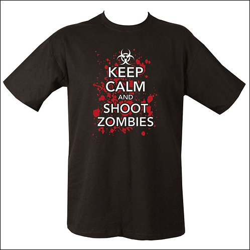 Keep Calm & Shoot Zombies T-Shirt - Black