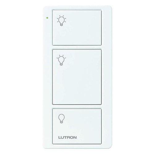 Lutron RA2 Select Pico Wireless Controller 3 Button Lights