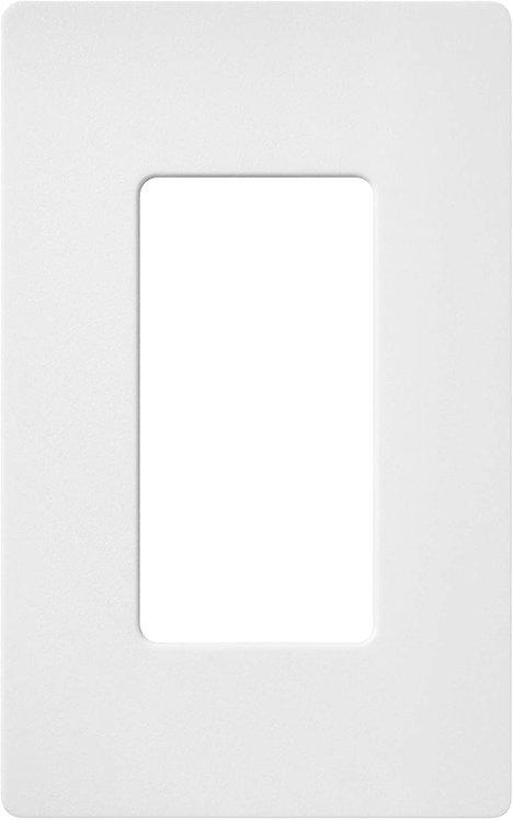 Lutron RA2 Select Claro 1 Gang Decorator Wallplate White