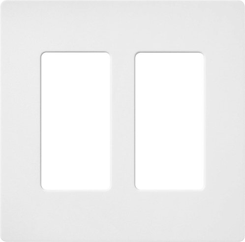 Lutron RA2 Select Claro 2 Gang Decorator Wallplate White