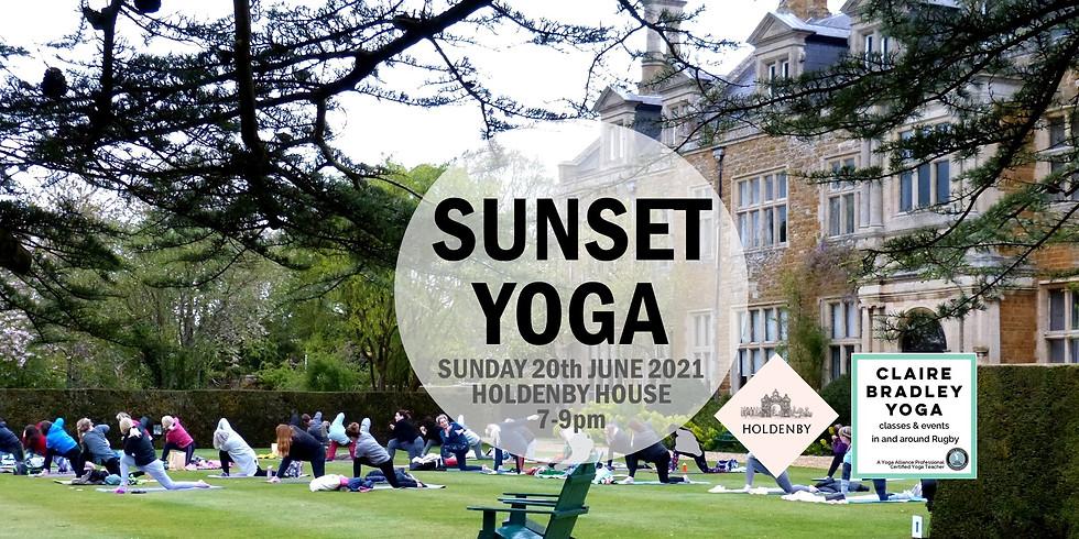 Sunset Yoga at Holdenby House