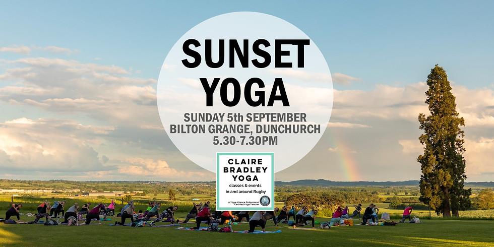 Sunset Yoga at Bilton Grange, Rugby