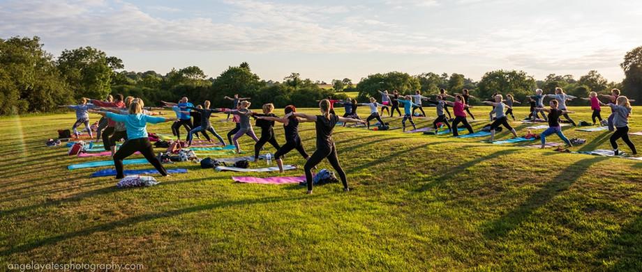 Sunset Yoga at Winwick 2019
