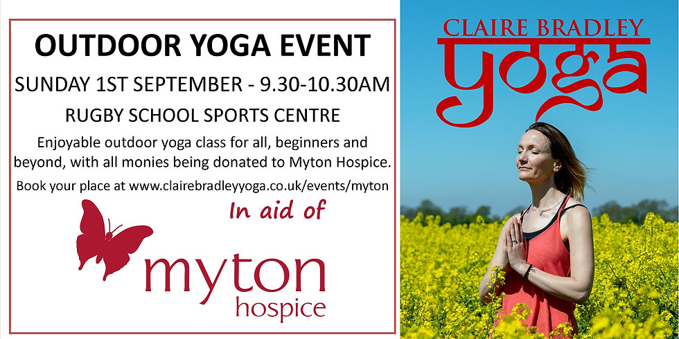 Charity Outdoor Yoga at Rugby School Sports Centre