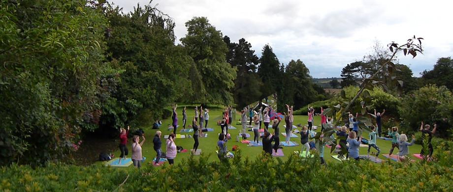Sunset Yoga at Holdenby House 2019