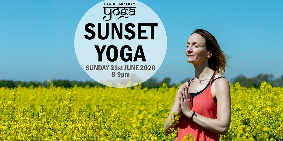 SUNSET YOGA - from my garden to yours