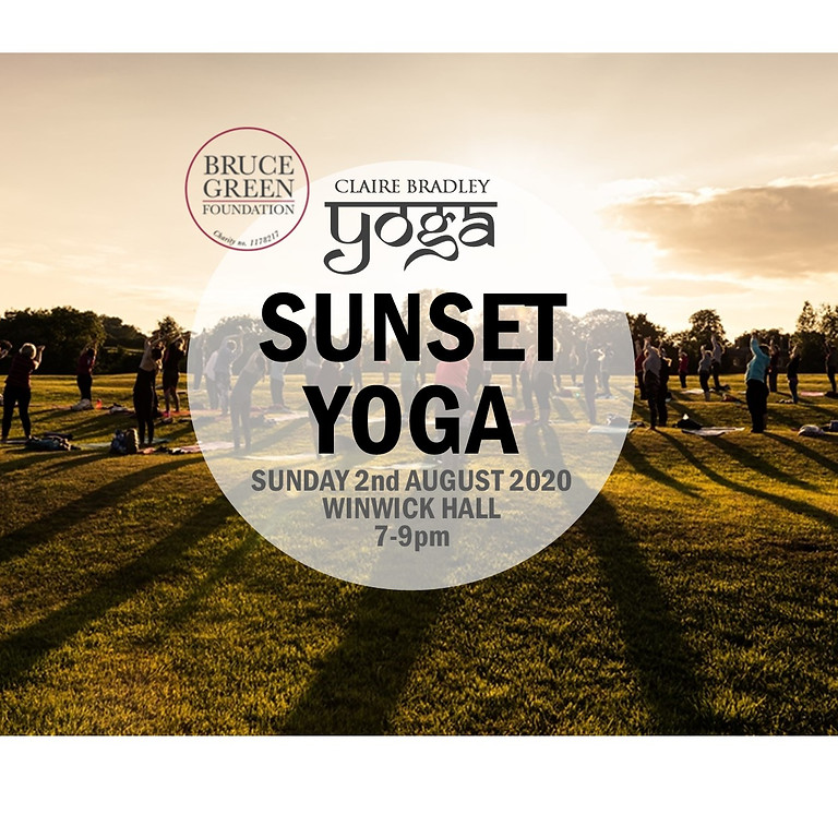 Outdoor Sunset Yoga at Winwick Hall