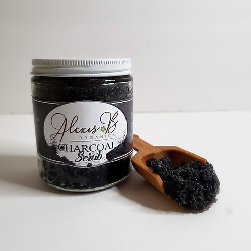 Charcoal infused with Lavender and Palm Oil Scrub