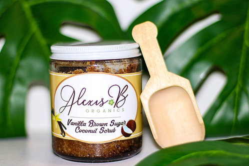Vanilla and Brown Sugar Infused with Coconut Oil Body Scrub