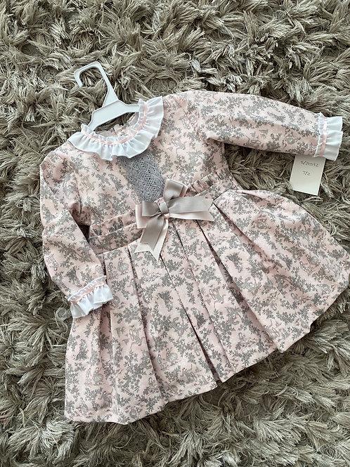 Baby Ferr pink / grey drop waist dress ages 2-8 Yrs