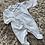 Thumbnail: Pin tuck velour babygrows 0-6M