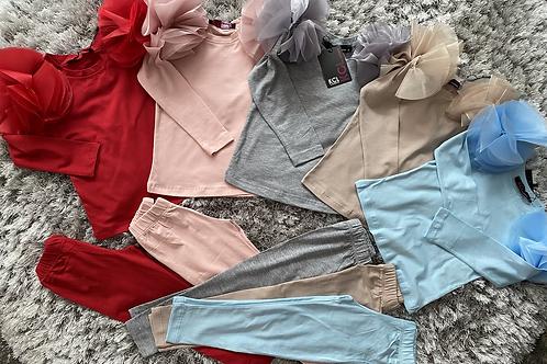Girls Organza leggings sets 2-10 Years