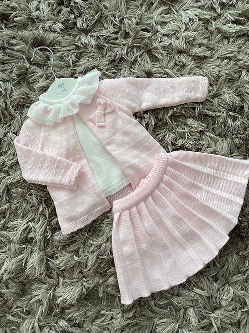 Kinder pleated skirt set pink 3-24 M