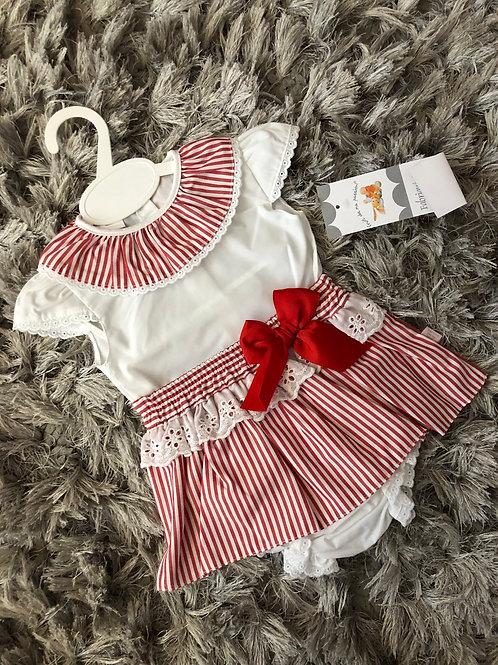 Red candy stripe spanish set 3-18 M