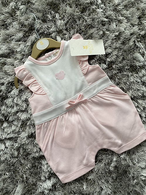 Mintini Baby pink frill romper 0-9 Months