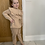 Thumbnail: Beige tie waist lounge set ages 2-10 Years