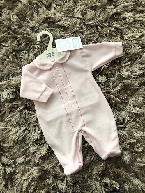 Pex classic sleepsuit pink NB-3 Months