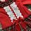 Thumbnail: Wee Me long sleeved red tartan romper 0-24 Months