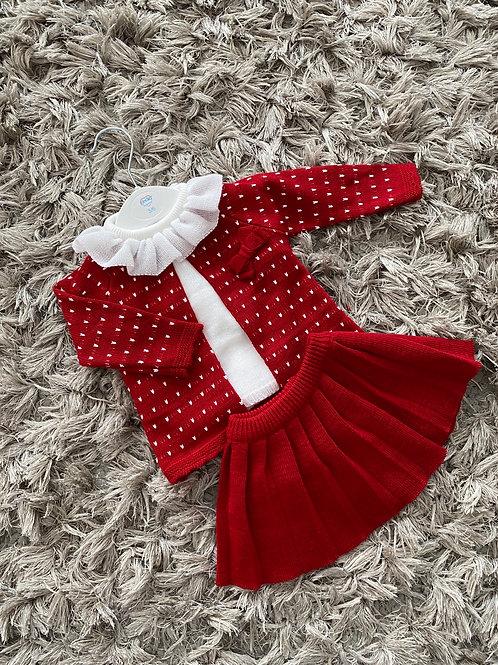 Kinder pleated skirt set 3-24M