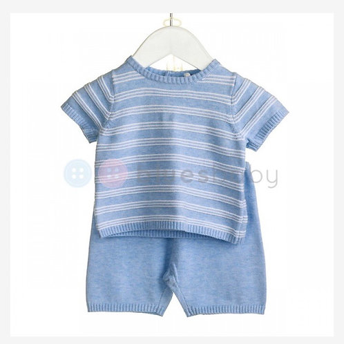 Blues baby striped two piece 9-24 months