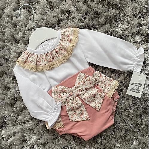 Ninas y ninos floral jam pants set 3-24 Months