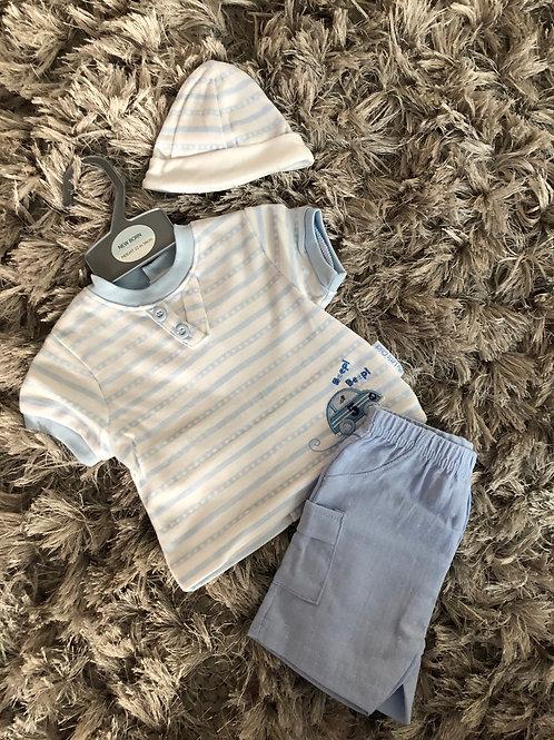 My little chick beep beep shorts set NB -6M