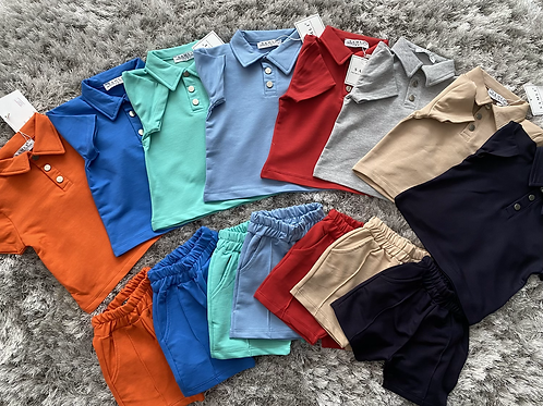 Boys buttoned collared sets 6-24 Months