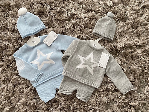 Star 3 price set grey/blue 0-24 Months