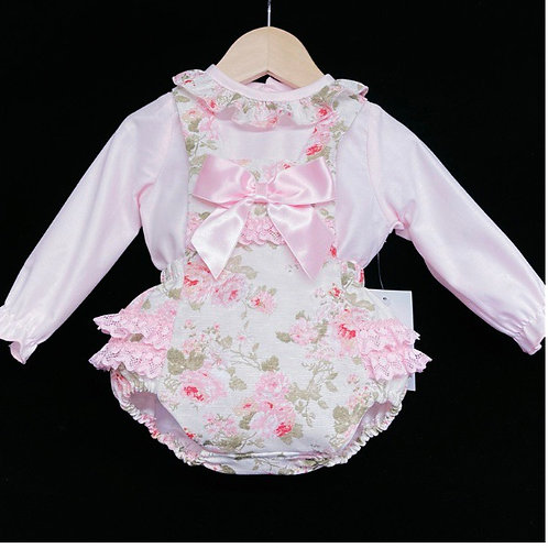 Wee Me pink floral ruffle romper 3-36 Months