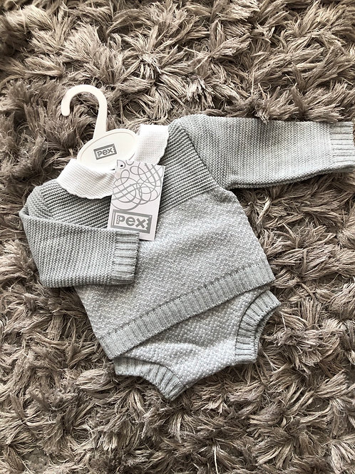 Rowan pants suit grey 0-12 Months